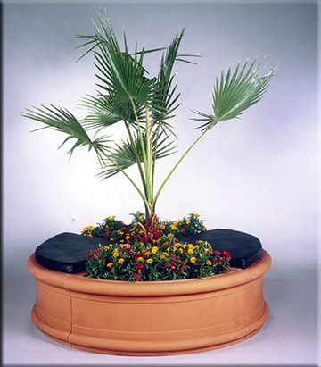 Quarter Circle Planter and Bench